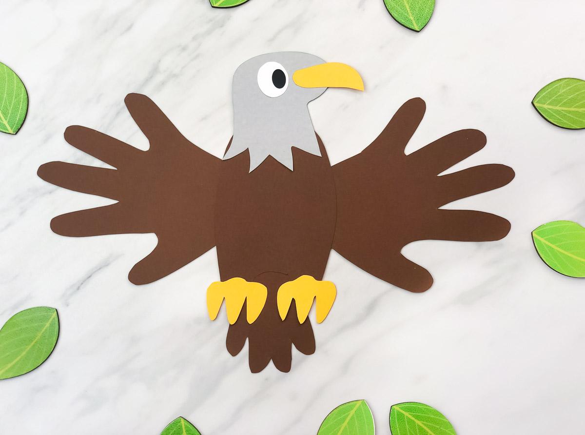 Handprint Bald Eagle Craft