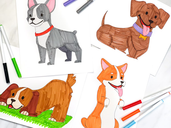 Puppy Coloring Pages For Kids