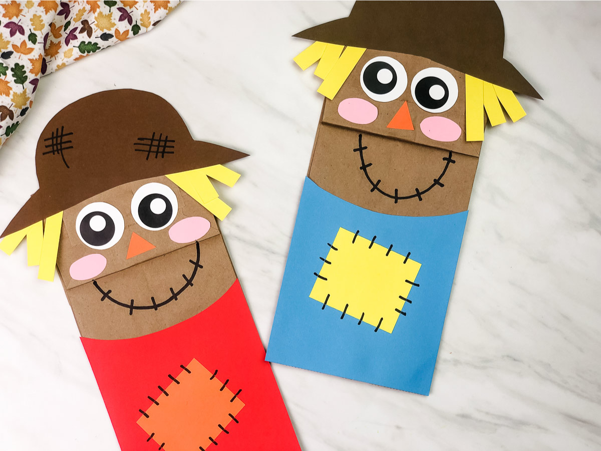 Kraft Paper Bag Scarecrow Craft For Kids