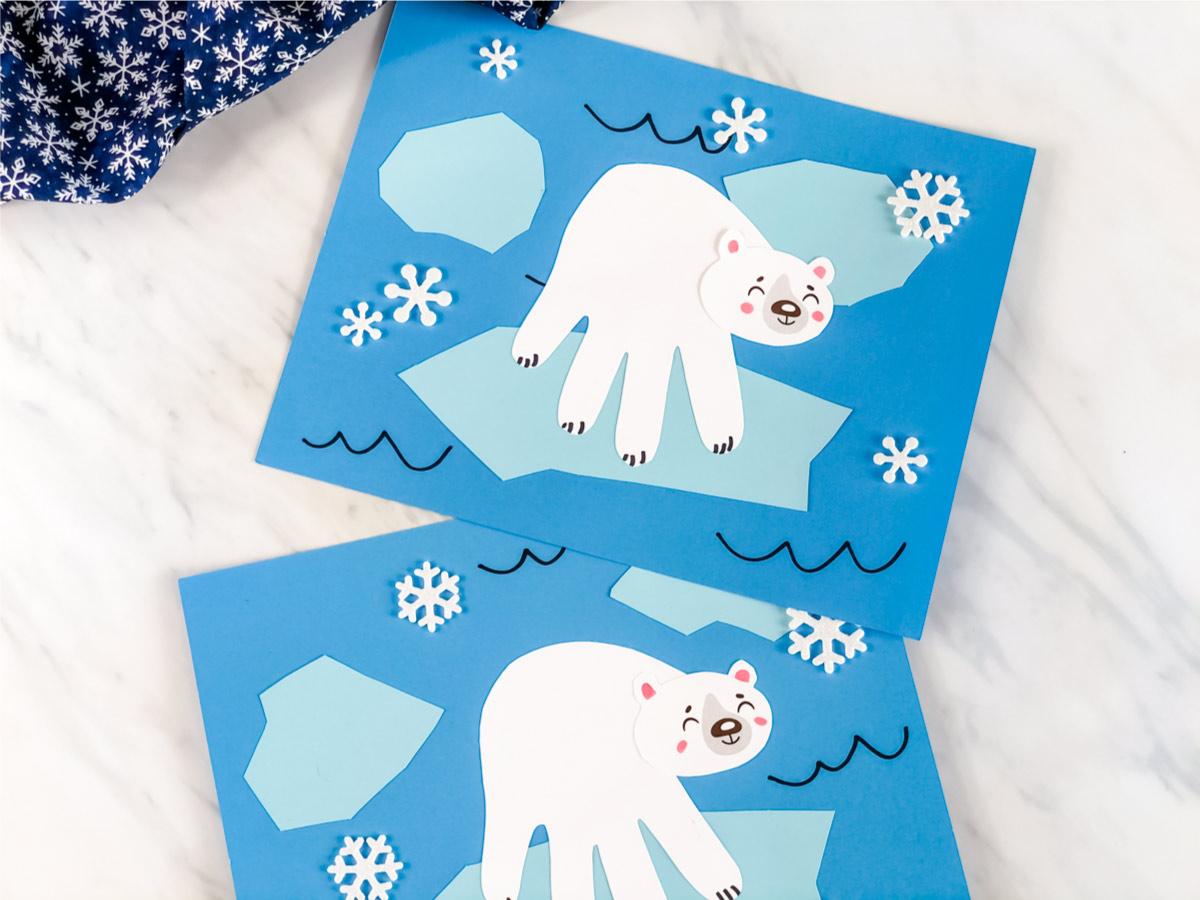 Polar Bear Handprint Craft