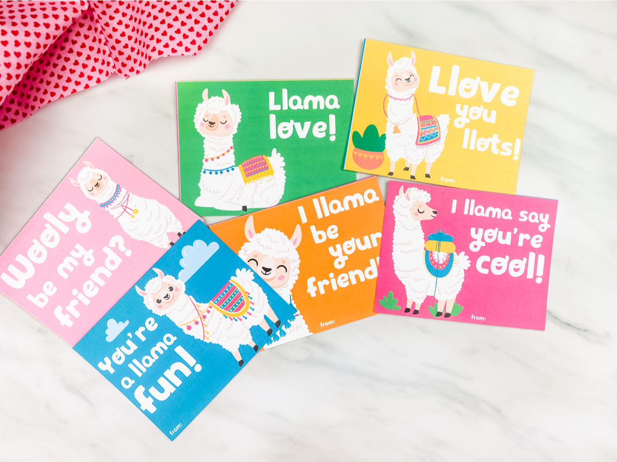 Llama Valentine S Day Cards For Kids