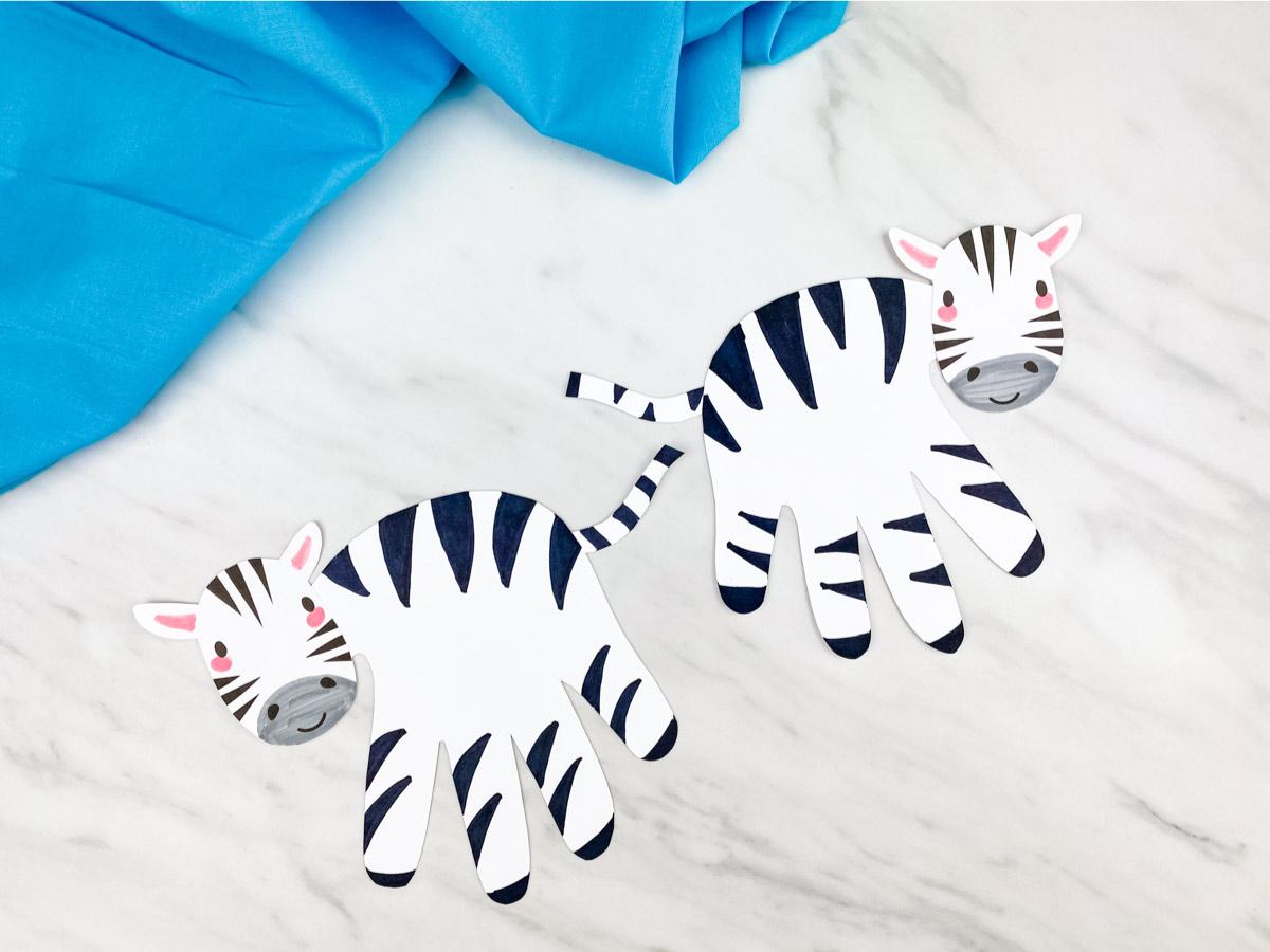 Handprint Zebra Craft For Kids