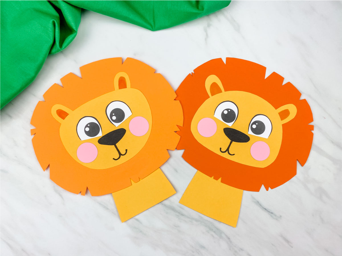 Easy Lion Craft For Preschool