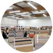 The Simple Floors Portland flooring showroom with over 3,000 flooring samples