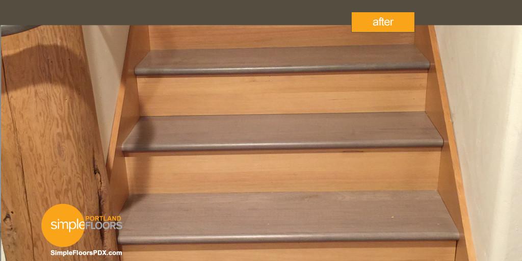 Hardwood floors instead of carpet - stairs