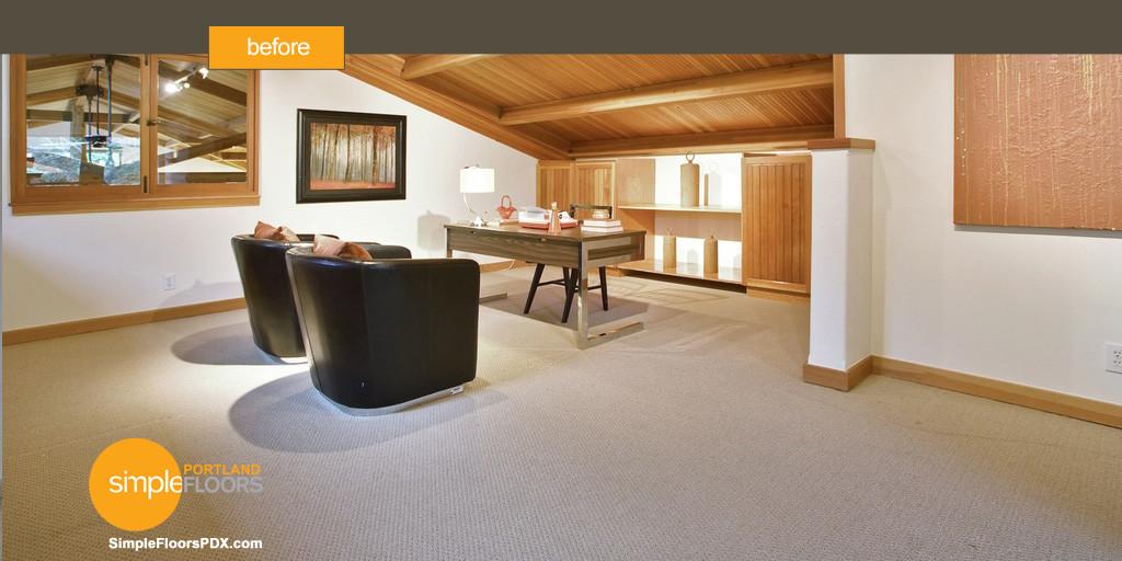 replacing carpeting with hardwood flooring - Before2
