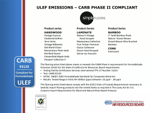 Simple Floors CARB testing certification