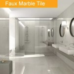 Faux Marble Tile Trend - Bathroom tile