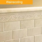 Wainscoting tile trend