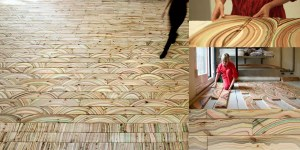 custom art floor
