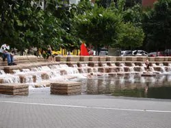 PDX Water Fountain at Jamison Sq