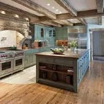 Using reclaimed hardwood floors in a farmhouse kitchen redesign