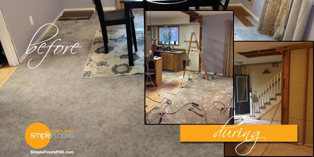 new flooring for Portland veteran