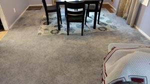Carpet before wood flooring Port;and