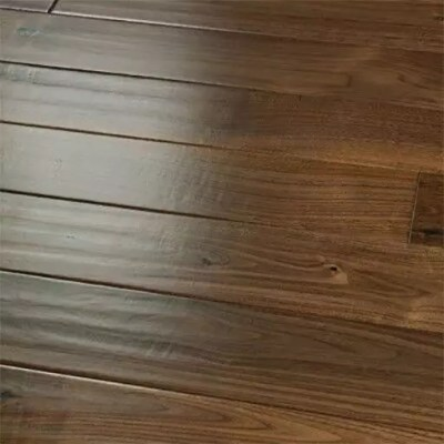 medium sculpted natural walnut engineered hardwood floors