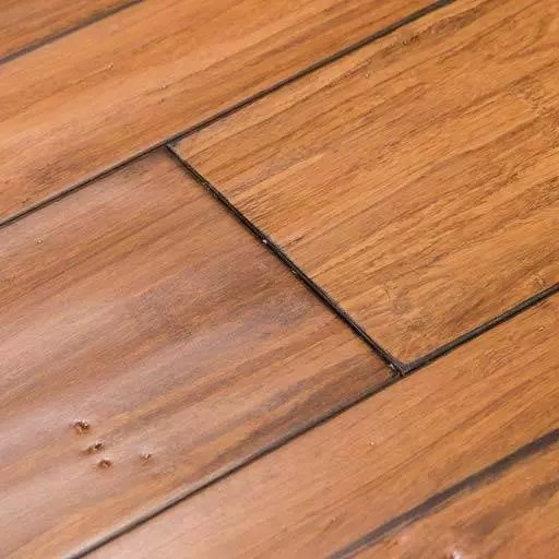 Eco-Engineered™ Distressed Mocha Fossilized® Smooth Bamboo Wood Floors – Wide+ T&G