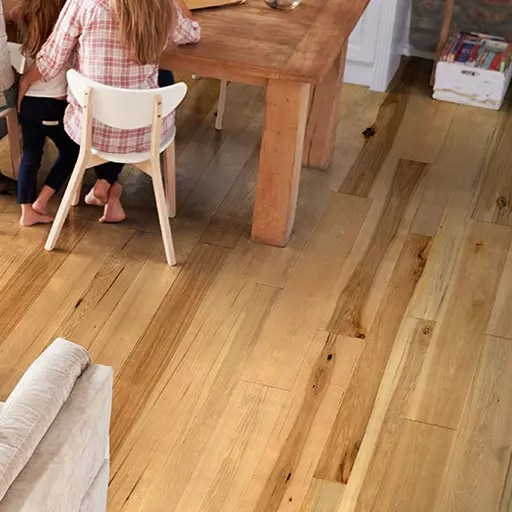 Casentino Handscraped Hickory Engineered Wood Flooring by Johnson Hardwood