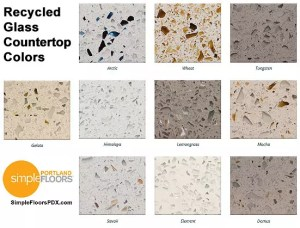 Portland Recycled Glass Countertops