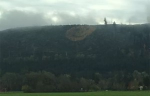 Huge smiley face on Oregon hillside near Grand Ronde