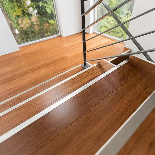Stairs and landing done in bamboo flooring