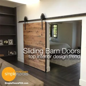 Sliding barn doors are the top home design trend
