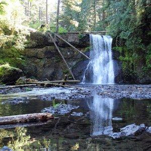 Silver Falls - Upper North Falls area