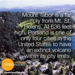 A volcano in Portland - Mt Tabor