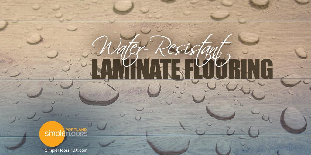 Laminate flooring that is water resistant