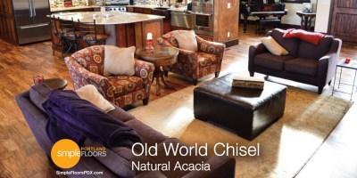 Natural Acacia wood floors in Portland