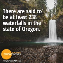 How many waterfalls in Oregon?