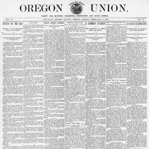 Original newspaper article about the Oregon State flower