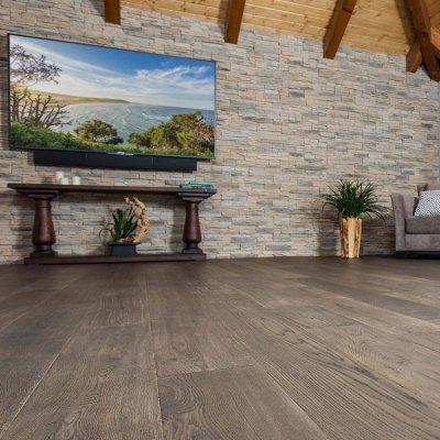 Naturally Aged Nightfall Engineered Hardwood Floor - Oak