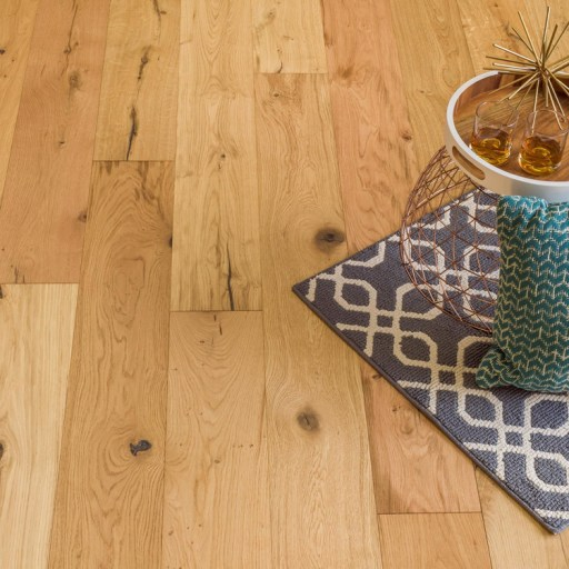 Closeup Naturally Aged Willow Wind Engineered Hardwood Floor - Oak