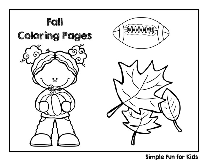 fall coloring pages simple fun for kids