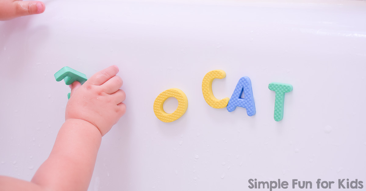 Bathtub Play With Foam Letters Simple Fun For Kids