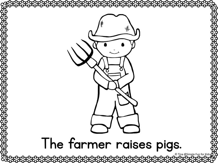 community helpers emergent reader coloring pages simple fun for kids