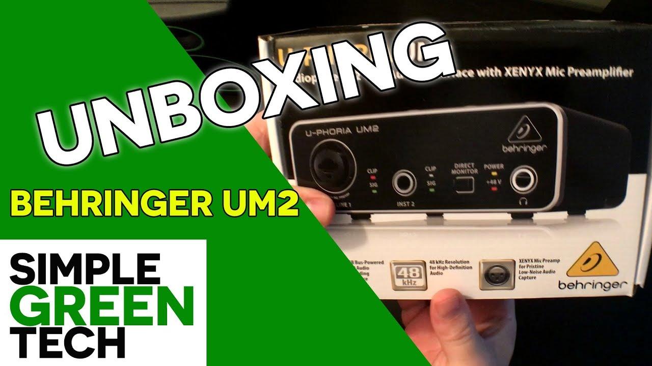 sgt-behringer-um2-unboxing – Simple Green Tech – Audio Tech Reviews