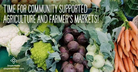Time for CSAs and Farmer's Markets!