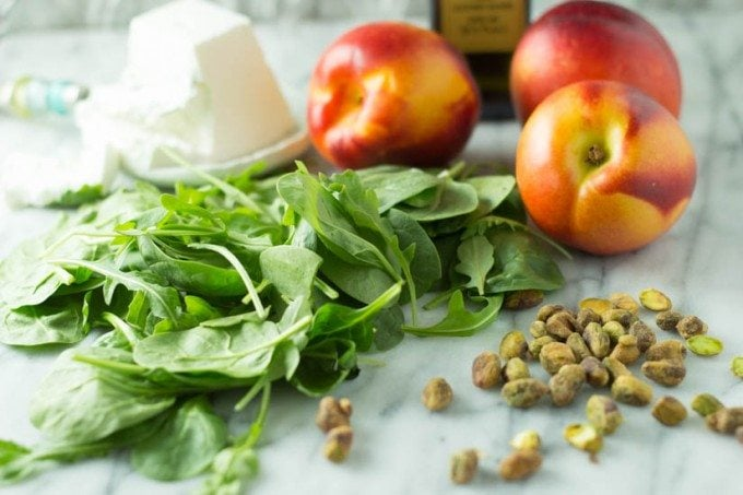 grilled nectaine salad ingredients