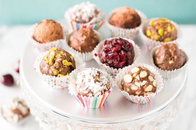protein ball in stripes