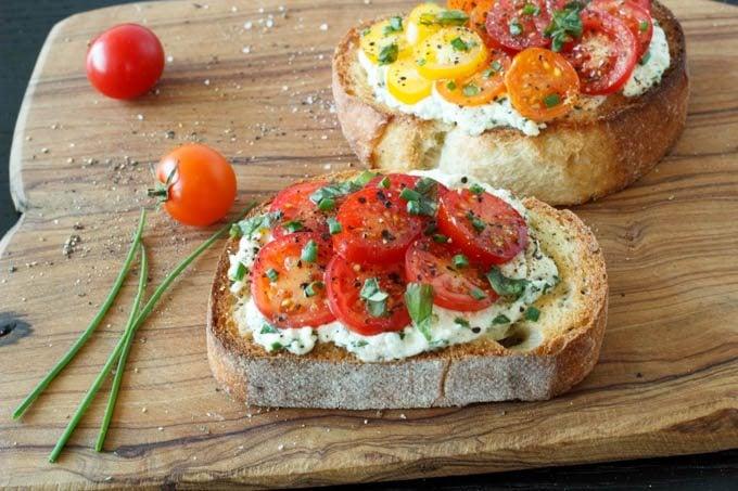 two tomato crostini_