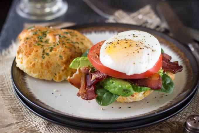 buttermilk cheddar biscuit ultimate breakfast sandwich