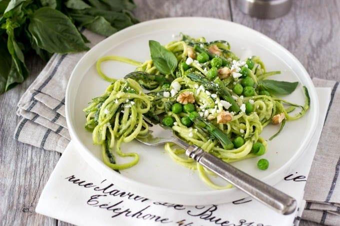 zucchini noodles with avocado pesto- simplehealthykitchen.com-070