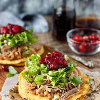 Chipotle Turkey Tostadas- perfect for your Holiday leftovers