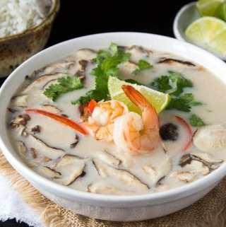 Tom Kha Soup | Thai Coconut Soup with Shrimp