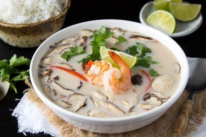 Thai Coconut Soup with Shrimp ( Tom Kha Soup)