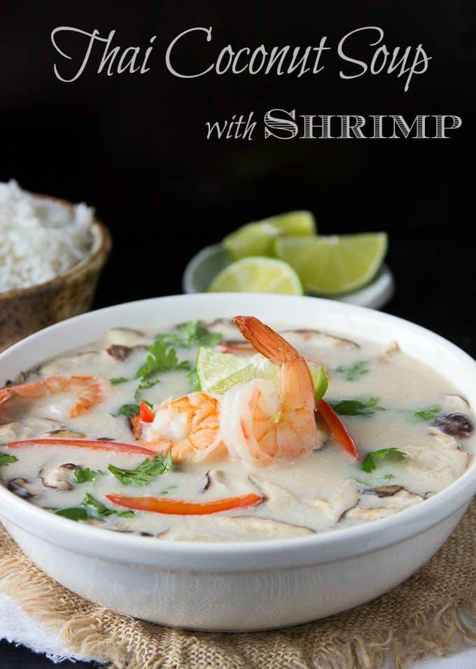 Thai Coconut Soup with Shrimp   One Pot Tom Kha Soup