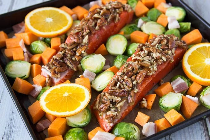oven-baked-pecan-crusted-salmon before