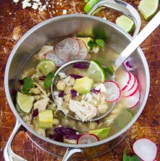 Chicken Posole- Can be made in the crockpot or on the stovetop