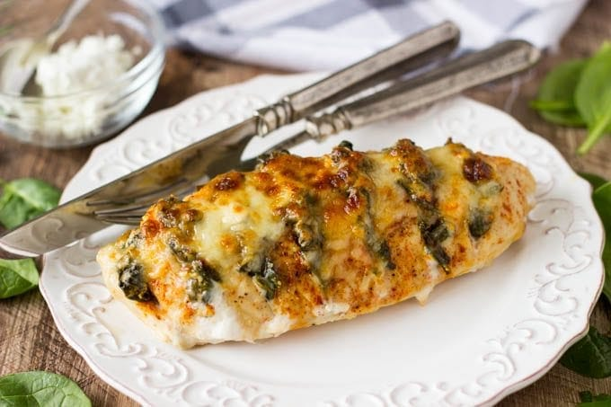 Spinach goat cheese hasselback chicken simple healthy kitchen hasselback spinach goat cheese hasselback chicken 5 forumfinder Choice Image